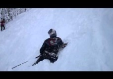 Amazing Skiing Backflip Fail