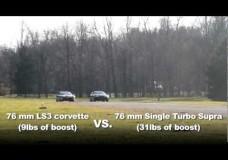Single Turbo Supra vs Single Turbo Corvette