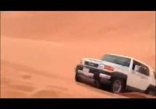 Sand Dune Jump In Toyota FJ Cruiser Nosedive