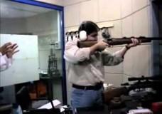 Funny arab shooting gun