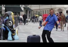 Hilariously odd street performer, Elron. Great character!