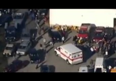 Actors Walking in Circles Around Sandy Hook Firehouse – Creating The Illusion of More People